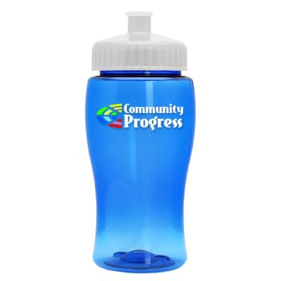 Poly-Pure Jr. 18 oz. Transparent Bottle - Digital