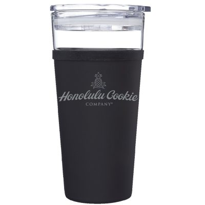 16 Oz. Caprice Stainless Steel & Glass Tumbler