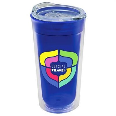 18 oz. Transparent Tumbler - Clear Slide Lid - Digital