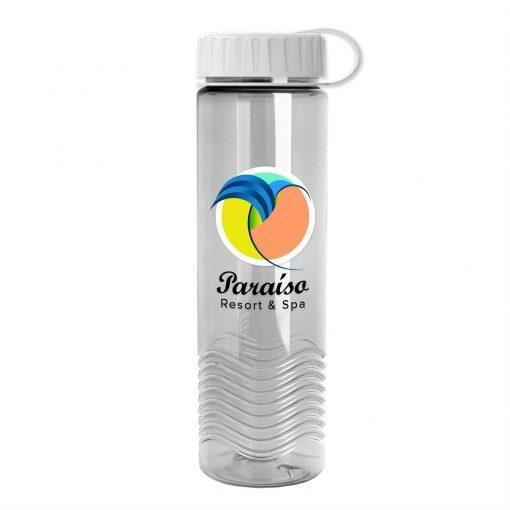 24oz Tritan Wave Bottle - Tethered Lid - Digital