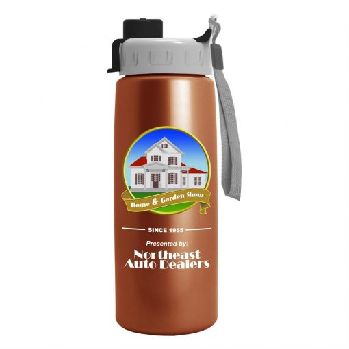 26 oz Metalike Flair Bottle - Quick Snap Lid - Digital