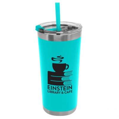 18 oz. Stainless Steel Insulated Straw Tumbler