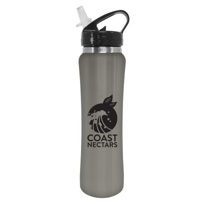 25 Oz. Steel Bottle With Flip Straw Lid