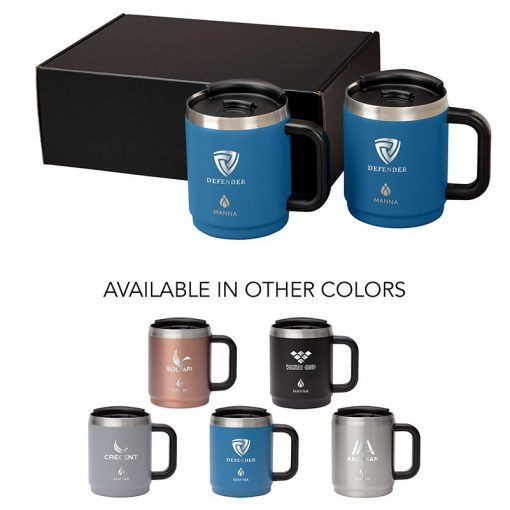 Manna Boulder Two-Piece Camping Mug Gift Set