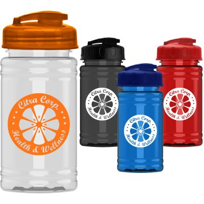 Mini 16 oz. PETE Sports Bottle with USA Flip Lid