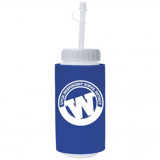 16 Oz. Foam Insulated Sport Bottle w/Straw