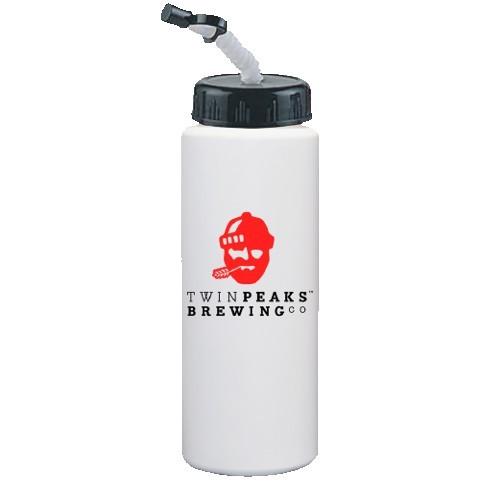 32 Oz. White Sport Bottle with Cap