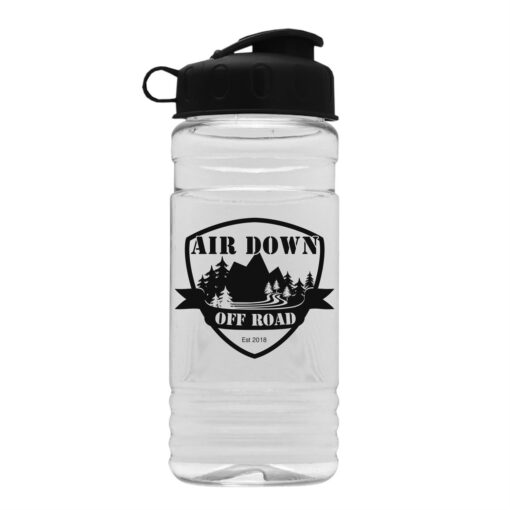 20 Oz. Clear Sports Bottle With Flip Top Lid