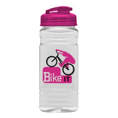 20 Oz. Clear Sports Bottle With USA Flip Top Lid