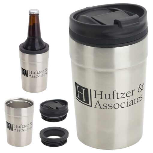 Carousal 12 oz Copper-Coated Tumbler + Can Cooler