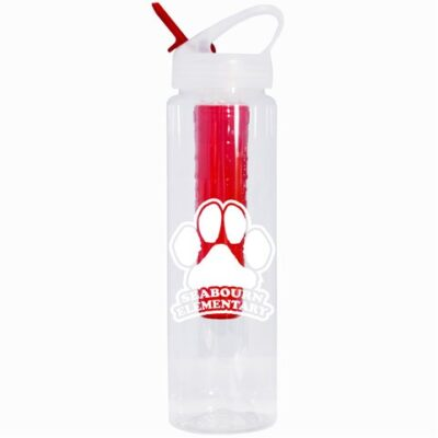 32 oz. Fruit Fusion Bottle With Color-Coordinated Infuser and Straw