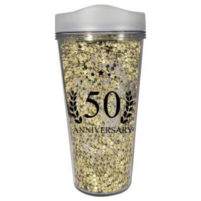 17 Oz. Glamour Glitter Tumbler- Made in the USA